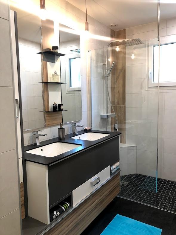 Exemple d 39 am nagement salle de bain pos e chang salle - Exemple amenagement salle de bain ...